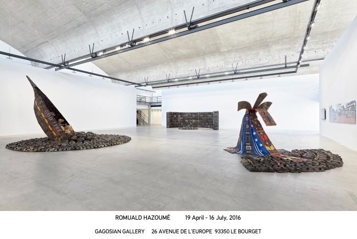 Romuald Hazoumè_Le Bourget 2016_install 02